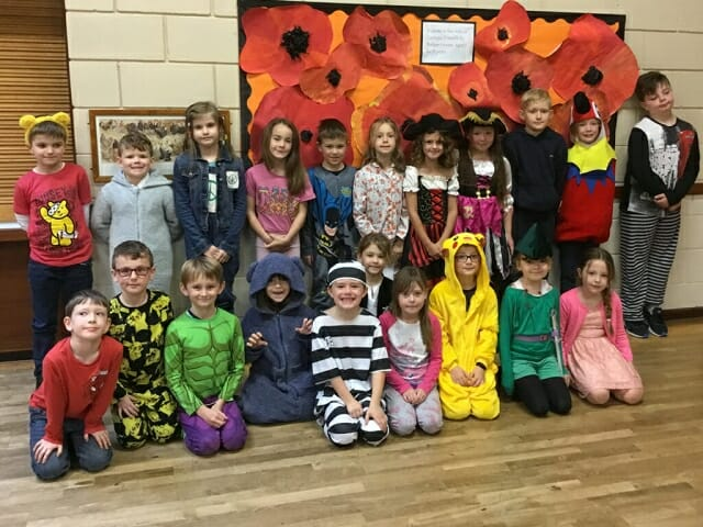 Pupils dress up for Pudsey Day - 'P' is the theme!